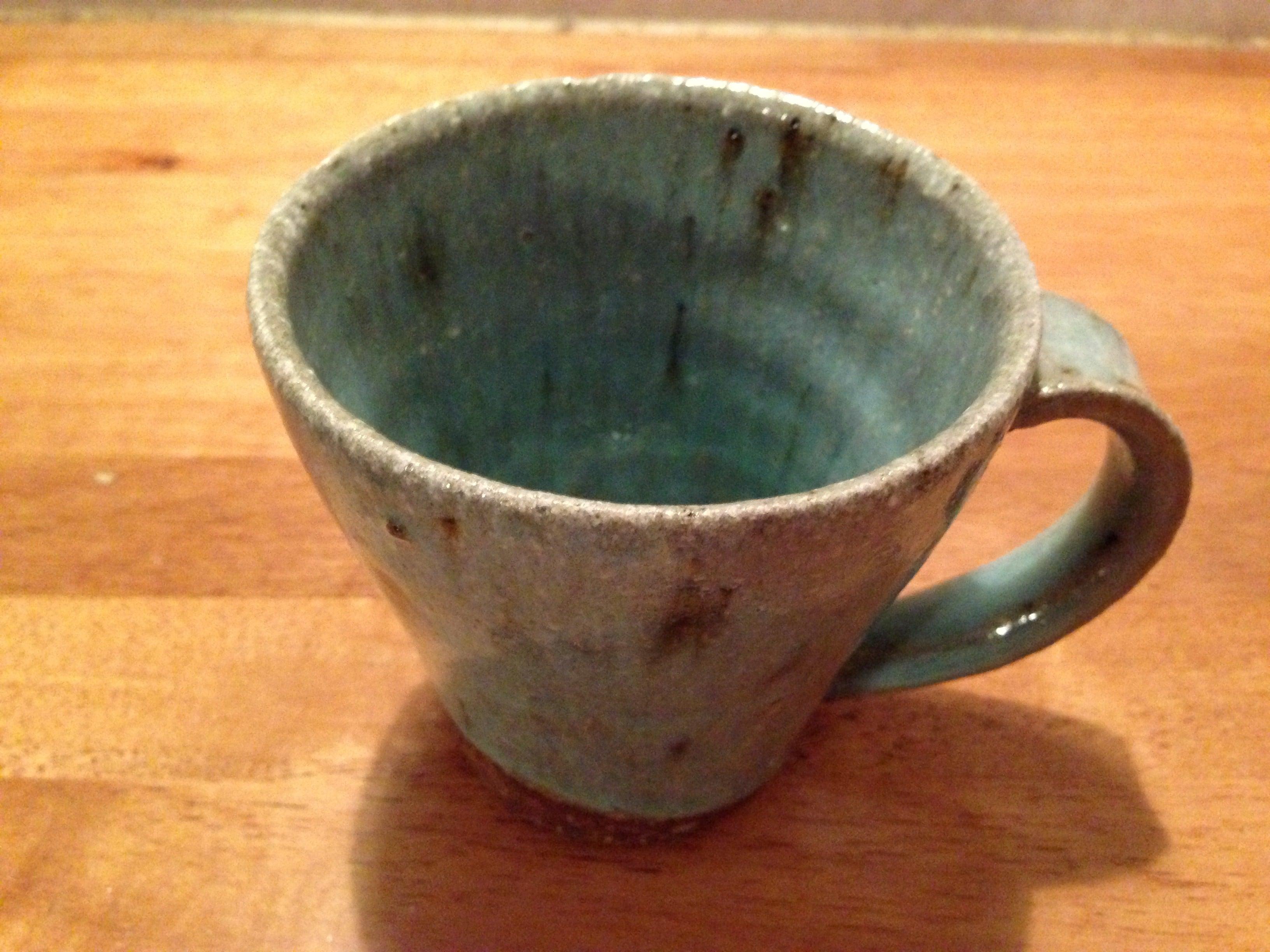 碧いマグカップ