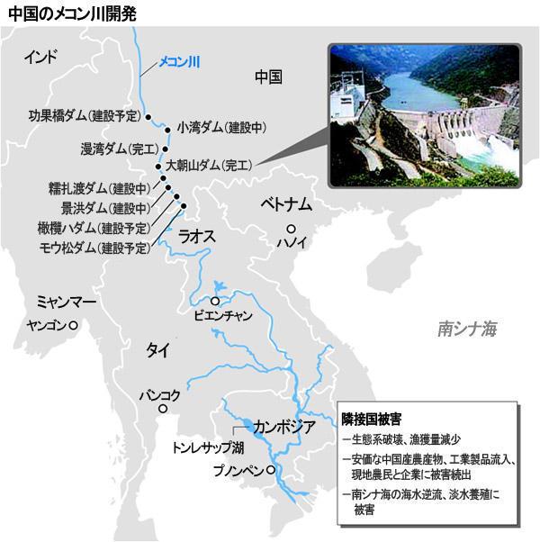 中国のメコン川開発 図解・グラフ・一覧・比較の画像とか