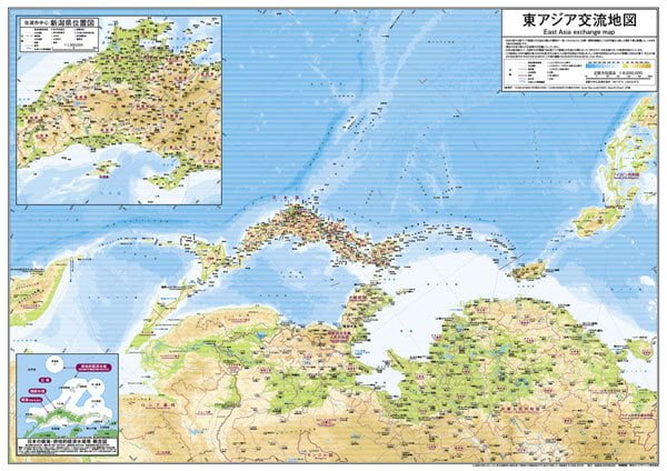 東アジア交流地図 図解・グラフ・一覧・比較の画像とか