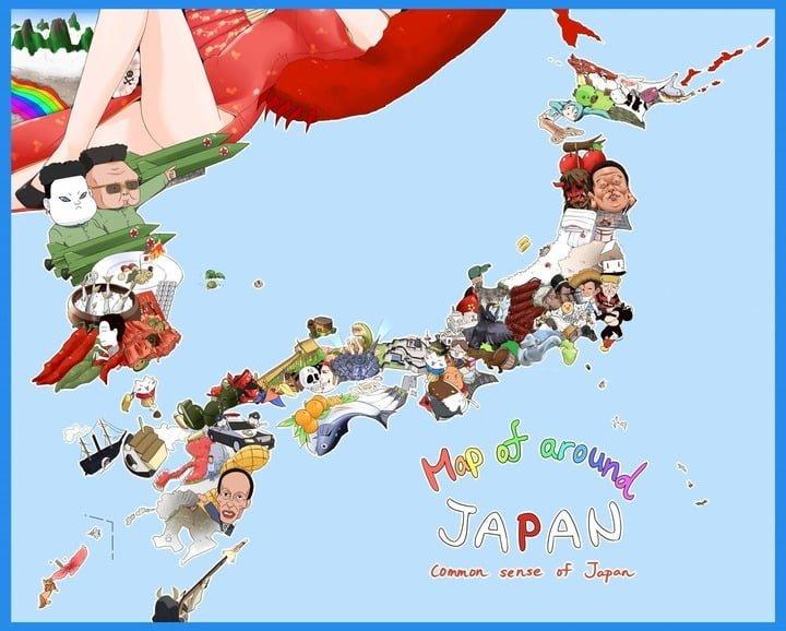 日本地図 図解・グラフ・一覧・比較の画像とか
