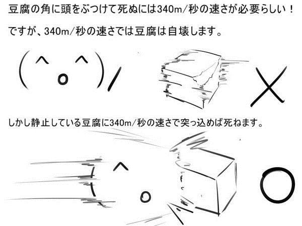 豆腐と頭 図解・グラフ・一覧・比較の画像とか