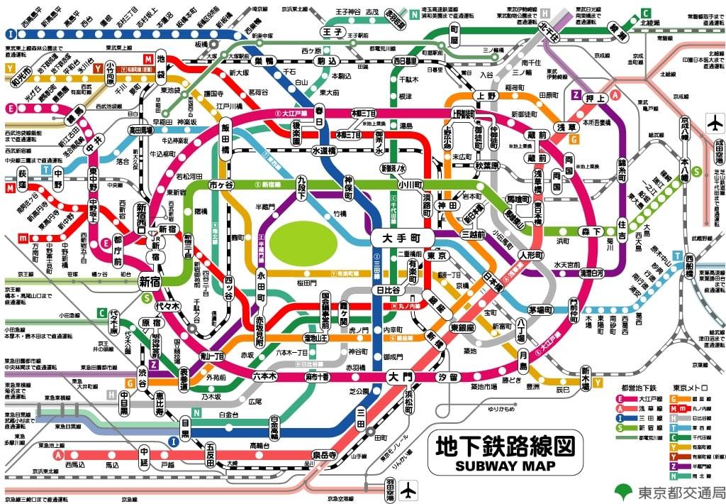 東京メトロ路線図 図解・グラフ・一覧・比較の画像とか