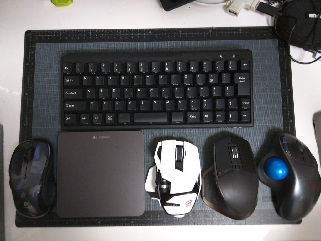 肩こりと腱鞘炎対策のためのキーボードとマウス