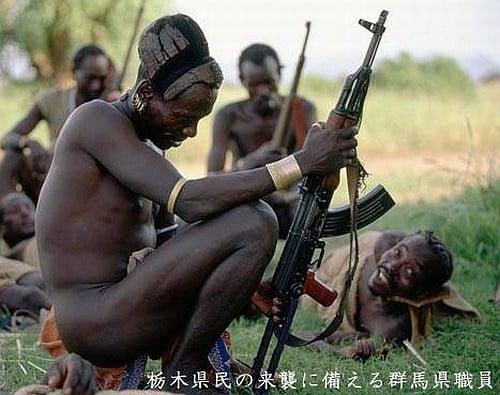 栃木県との戦いに備える群馬県職員