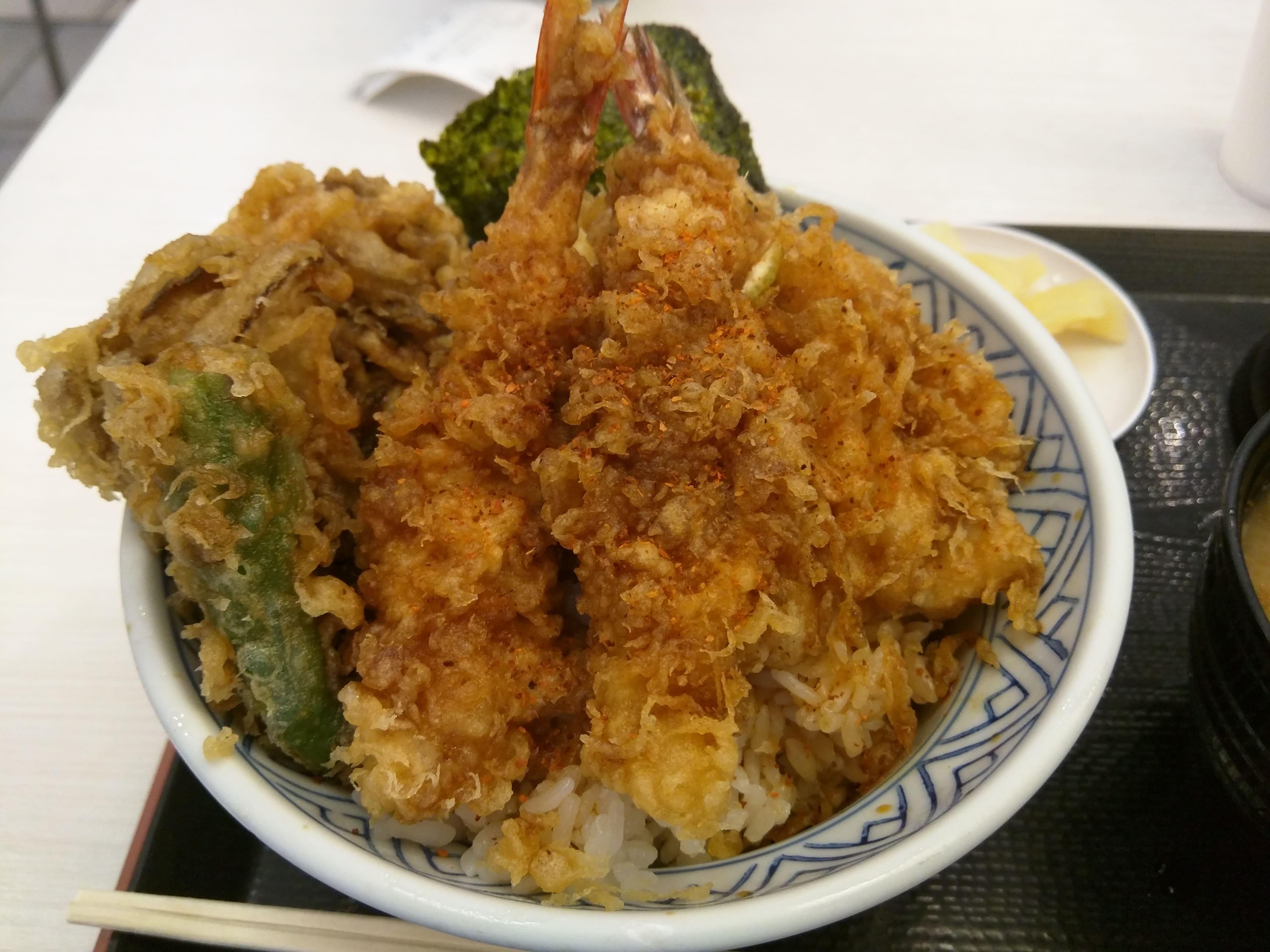 フードコートで食べる超行列店の天丼 ~ 川崎駅 金子半之助 川崎ラゾーナ店