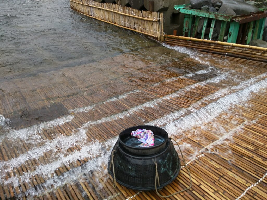素晴らしい環境のやなと鮎 ~ 栃木県大田原市 寒井観光余一やな