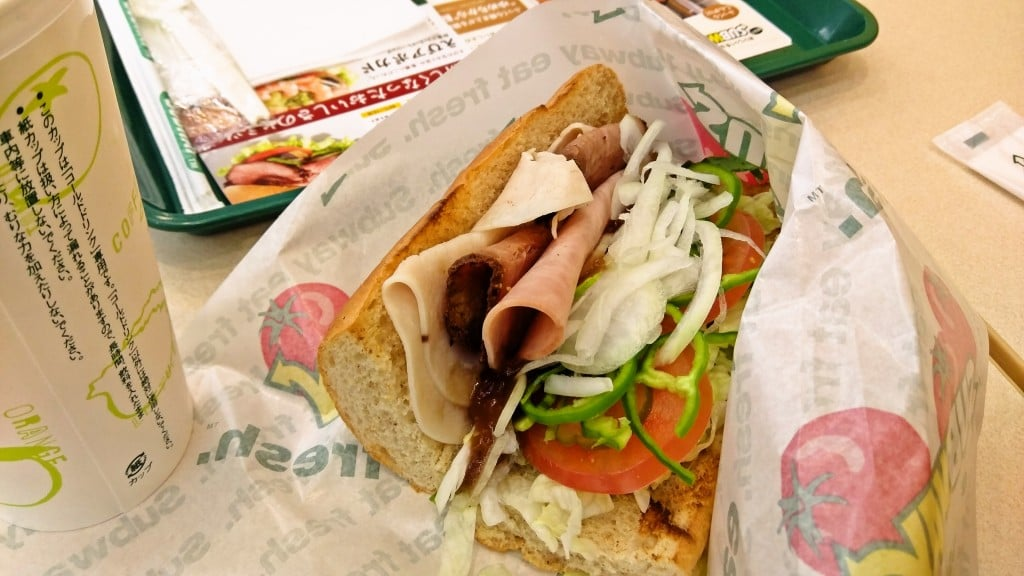 帰ってきたサンドイッチ ~ 富山市 サブウェイ富山黒瀬店