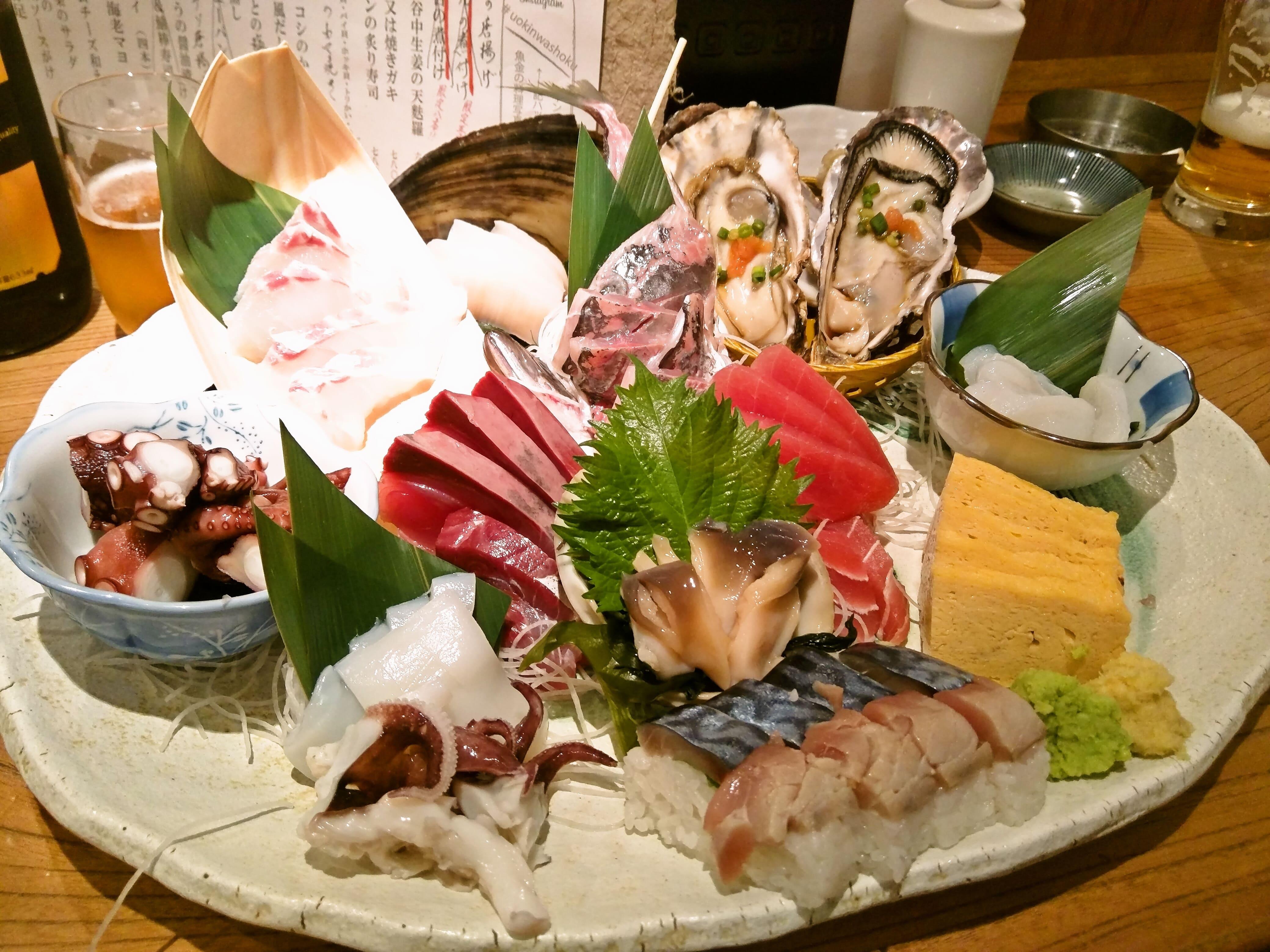 安くてボリュームのある大人気の海鮮居酒屋 ~ 新橋 魚金 本店